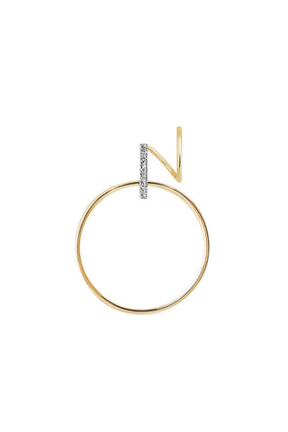 DARCY BLANC TWIRL EARRING - 14K YELLOW GOLD