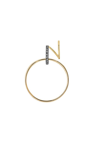 DARCY NOIR TWIRL EARRING - 14K YELLOW GOLD
