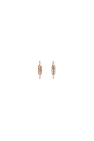 FAY WRAY STUD DIAMOND EARRING - 14K ROSE GOLD