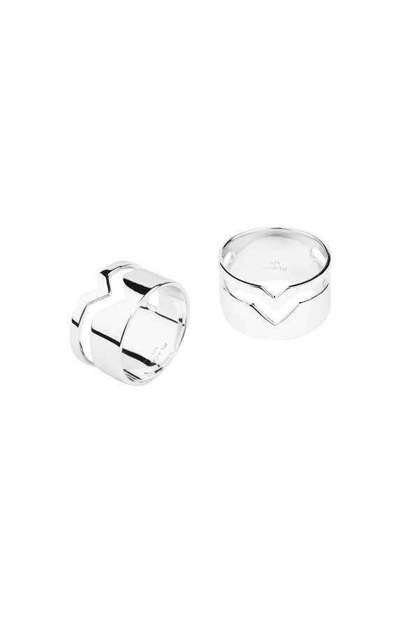 FOOLED HEART RING - SILVER
