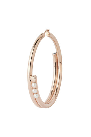GENIE MAXI HOOP EARRING - ROSE GOLD