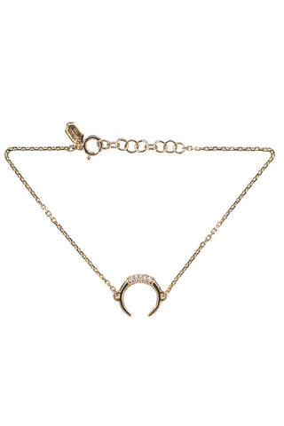 TUSK DIAMOND BRACELET - 14K YELLOW GOLD