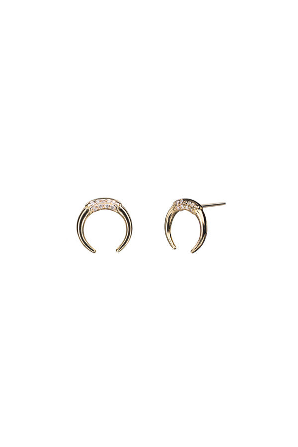 TUSK DIAMOND EARRING - 14K YELLOW GOLD