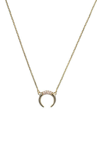 TUSK DIAMOND NECKLACE - 18K YELLOW GOLD