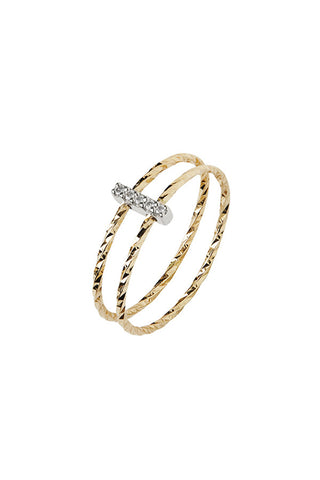 GISH BLANC DIAMOND CUT RING - 14K YELLOW GOLD