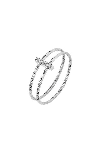 GISH DIAMOND CUT RING - 14K WHITE GOLD