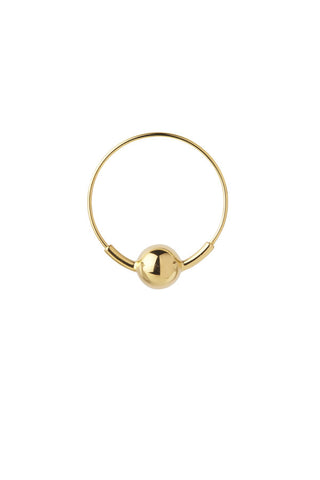 HOOP 8 EARRING - HIGH POLISHED GOLD