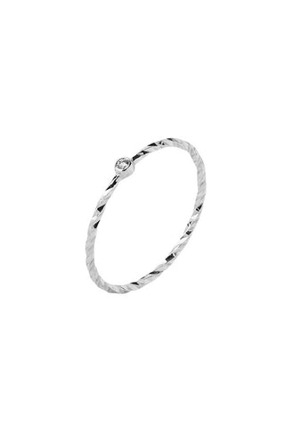 JABARI DIAMOND CUT RING - 14K WHITE GOLD