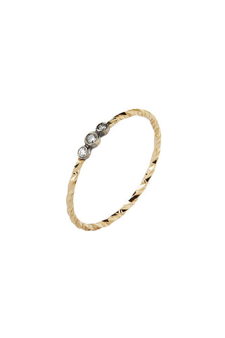 JESSA NOIR DIAMOND CUT RING - 14K YELLOW GOLD