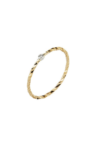 JOBYNA BLANC DIAMOND CUT RING - 14K YELLOW GOLD