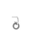 JOLIE MONO EARRING - 14K WHITE GOLD