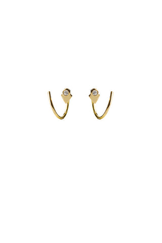 LA VERNE DIAMOND TWIRL EARRING - 14K YELLOW GOLD