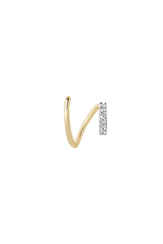 LILA BLANC TWIRL EARRING - 14K YELLOW GOLD