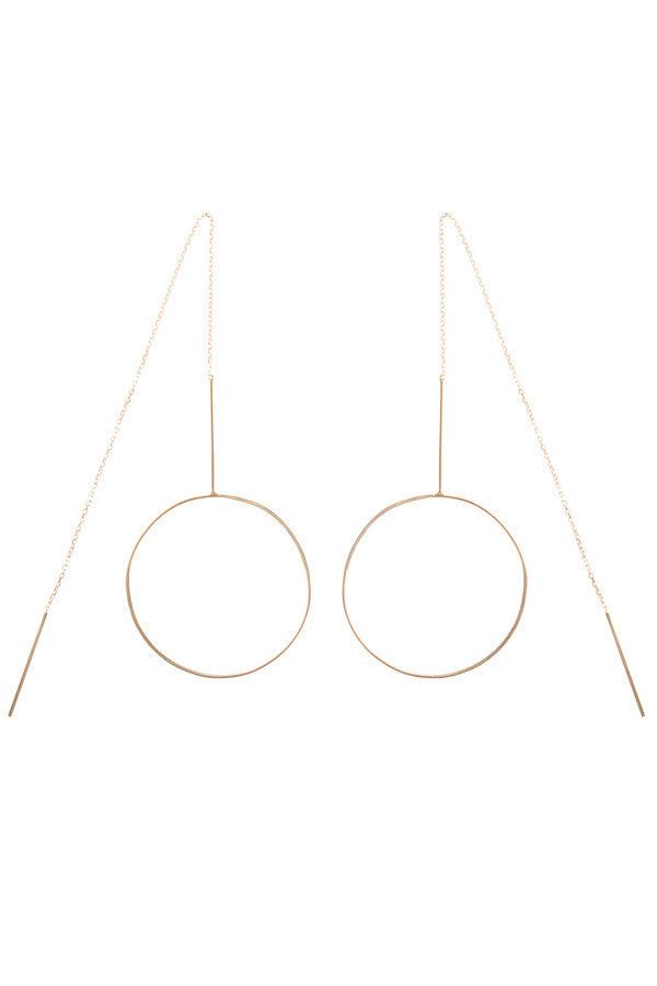 MONOCLE EARRING - ROSE GOLD