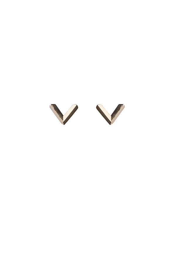 CHECK EARRING - ROSE GOLD