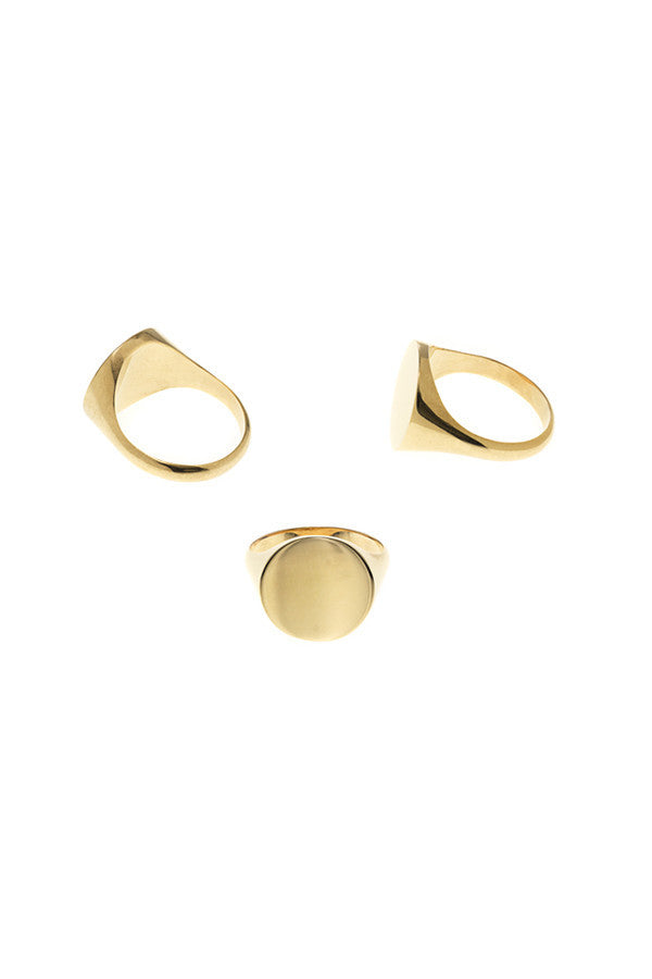 READY HEART RING - HIGH POLISHED GOLD