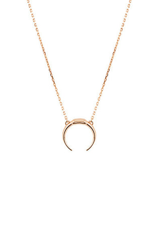 TUSK NECKLACE - ROSE GOLD