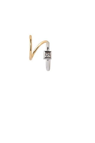Ava Blanc Twirl Earring - 14K yellow gold