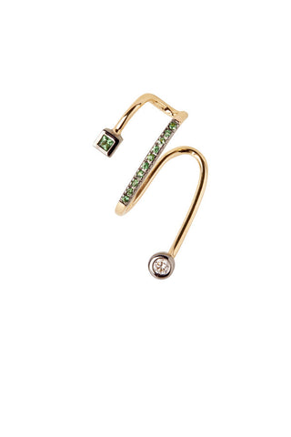 Avery Vert Ear Cuff - 18K yellow gold