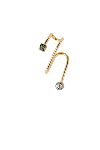 Bailey Vert Ear Cuff - 18K yellow gold