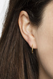 BASIC HOOP EARRINGS - BLACK