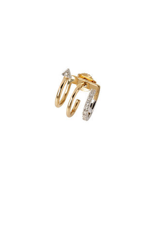 Lakme Blanc Earring - 14K yellow gold