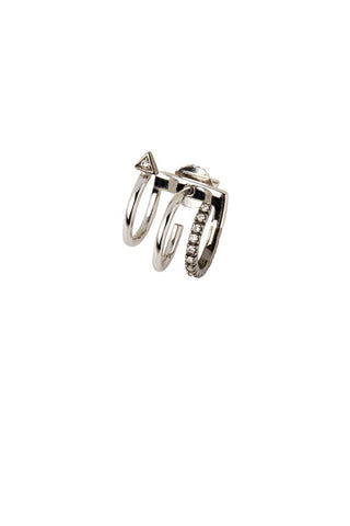 Lakme Mono Earring - 14K white gold