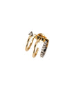 Lakme Noir Earring - 14K yellow gold