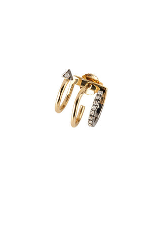 Lakme Noir Earring - 18K yellow gold