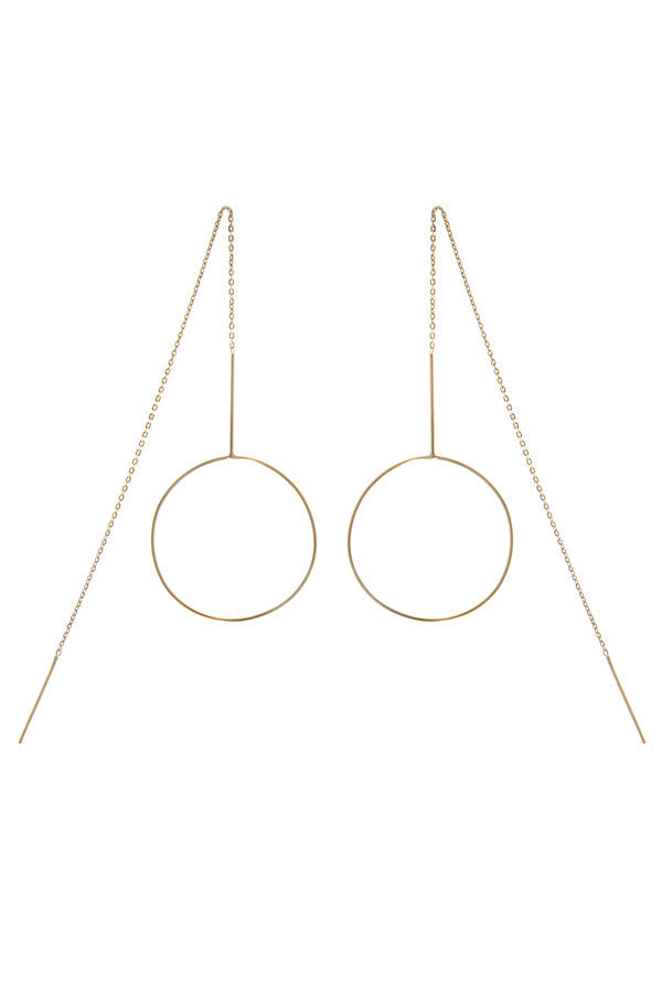 MONOCLE EARRING - HIGH POLISHED GOLD
