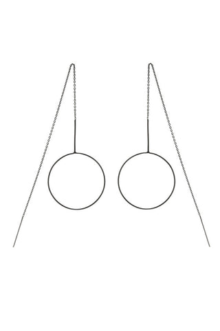 MONOCLE EARRING - BLACK