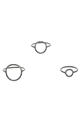 MONOCLE RING SMALL CIRCLE - BLACK