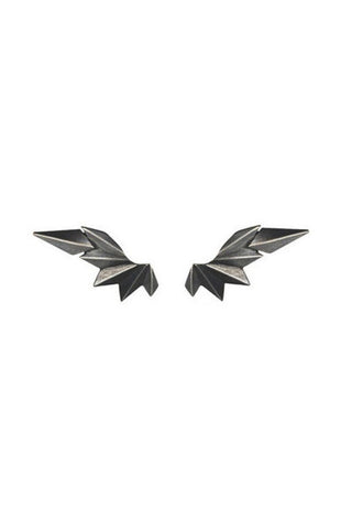 WING EARRING - BLACK