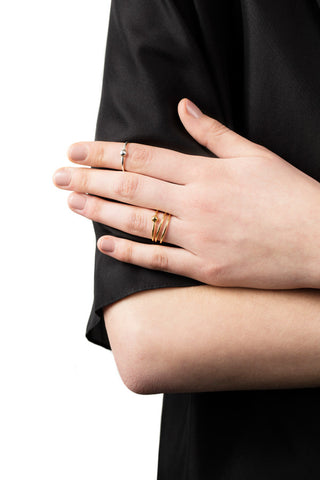 HELIX TRAPEZ RING - ROSE GOLD