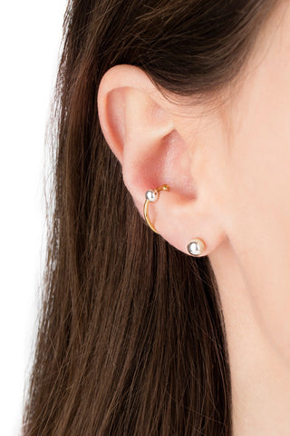 BALL EARRING - HIGH POLISHED GOLD