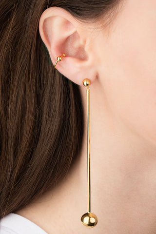 ORBIT SHOULDER DUSTER EARRING - HIGH POLISHED GOLD