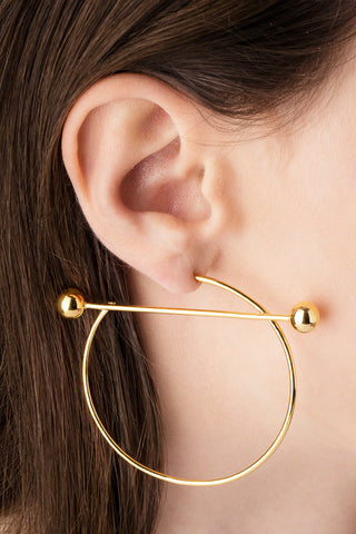 SOLAR EARRING - HIGH POLISHED GOLD
