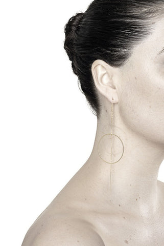 MONOCLE EARRING - GOLD