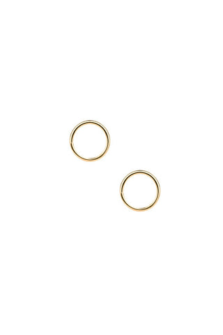 MONO CIRCLE EARRING - HIGH POLISHED GOLD
