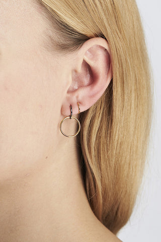 SAGA MEDI TWIRL EARRING - GOLD/BLACK