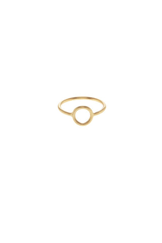 MONOCLE RING SMALL CIRCLE - GOLD