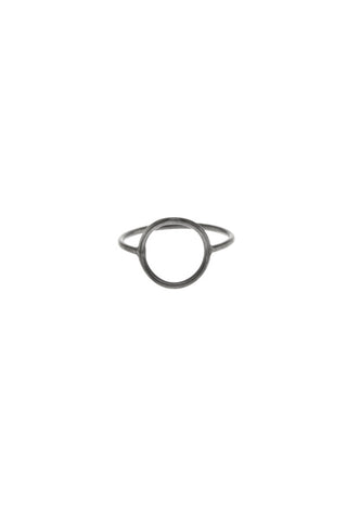MONOCLE RING MEDIUM CIRCLE - BLACK
