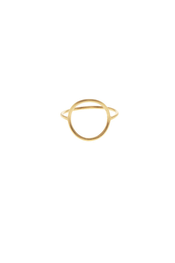 MONOCLE RING LARGE CIRCLE - GOLD