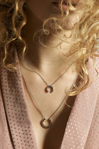 DISRUPTED NECKLACE - ROSE GOLD