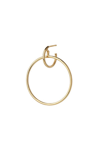 NORMA MAXI HOOP EARRING - HIGH POLISHED GOLD