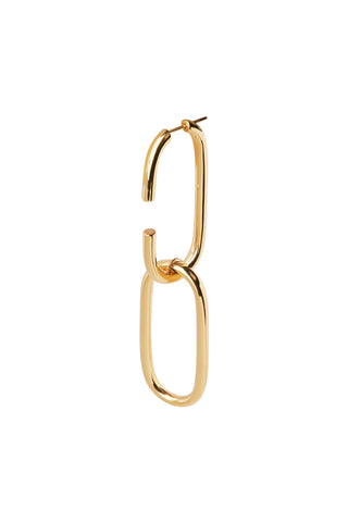 OVAL LINK EARRING - HIGH POLISHED GOLD
