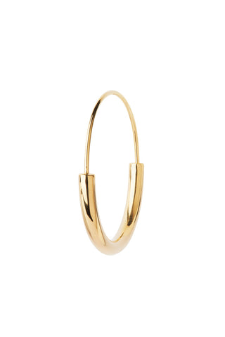SERENDIPITY HOOP MEDIUM EARRING - HIGH POLISHED GOLD