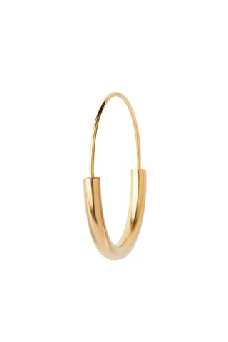 SERENDIPITY HOOP MEDIUM EARRING - GOLD