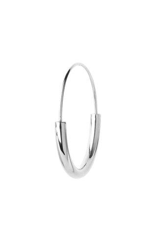 SERENDIPITY HOOP MEDIUM EARRING - SILVER