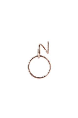 SAGA MEDI TWIRL EARRING - ROSE GOLD